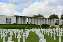 亨利Chapelle,比利时- 2017年5月31日:美国军用公墓和纪念品 库存照片