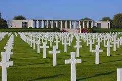 亨利Chapelle WWII美国公墓,比利时 免版税库存照片