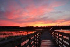亨廷顿海滩国家公园风景 库存照片