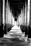 亨廷顿码头 免版税库存照片