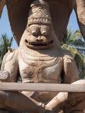 亨比寺庙复合体,联合国科教文组织世界遗产名录站点在卡纳塔克邦,印度 免版税库存图片