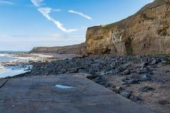 亨登南海滩、泰恩-威尔郡,英国 库存照片