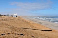 亨蒂斯湾海滩前面 库存照片