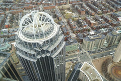 111亨廷顿塔在市波士顿-波士顿,马萨诸塞- 2017年4月3日 免版税库存照片