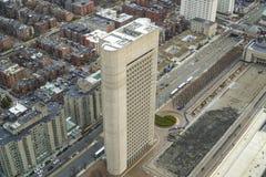 177亨廷顿Ave大厦在波士顿-波士顿,马萨诸塞- 2017年4月3日 库存照片