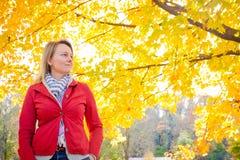 享受与我的秋天 库存图片