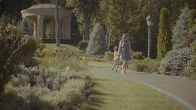 享受休闲的愉快的家庭在旅行地点 股票视频