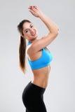 享受健身的少妇 免版税库存图片
