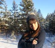 享受冬天 库存照片