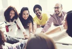享受参与合作概念的合作 免版税库存图片