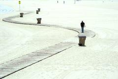 享受在海滩的人们一个晴天威尼斯,加利福尼亚 库存图片
