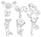 享受夏天的孩子 免版税图库摄影