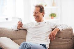 享受家庭时间 免版税库存图片
