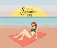 享受您的夏天 免版税图库摄影