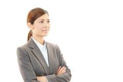 享受成功的女商人 免版税图库摄影