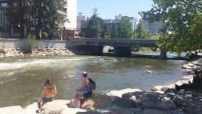 享受我们的夏天在里诺 库存图片