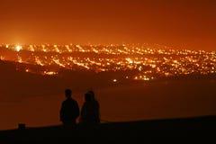 旧金山在晚上 免版税库存照片