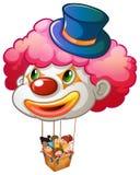 享受气球乘驾的孩子 图库摄影