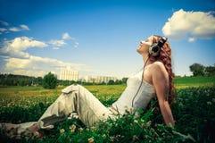 享受音乐! 免版税库存图片