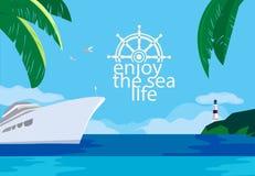 享有海洋生活 向量例证