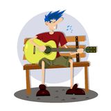 享用唱歌曲 免版税库存图片