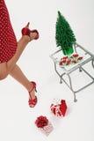 享用女孩的圣诞节 免版税库存照片