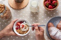 享用开胃早餐 图库摄影