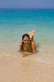 享用海滩 免版税库存照片