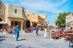 享用老多哈,卡塔尔 免版税库存图片