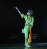 京剧女演员这全国民间舞 免版税库存照片