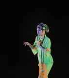 京剧女演员这全国民间舞 库存图片