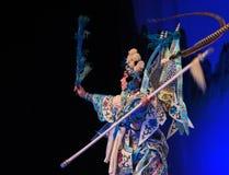 """京剧蓝色北京Opera""""杨Family†的妇女将军 免版税库存图片"""