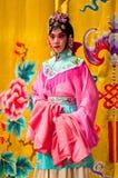 京剧马戏团的女演员 免版税库存照片