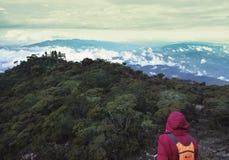 京那巴鲁山攀登 图库摄影