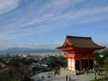 京都俯视 免版税库存照片