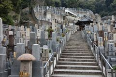 京都公墓 免版税库存照片