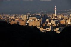 京都地平线 库存照片