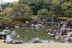 京都日本人庭院 库存照片