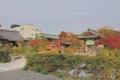 京都日本shinsen en寺庙秋季的 免版税库存照片