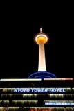 京都电视塔夜 免版税图库摄影