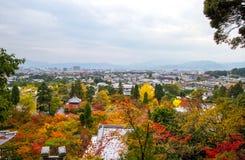 京都看法街市从Eikando寺庙 库存图片