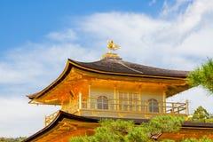 京都金黄寺庙 免版税库存图片