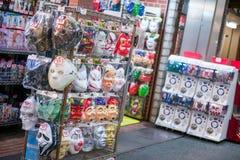 京都,日本- 2017年11月17日:在Teramachi Shoppin的玩具店 图库摄影