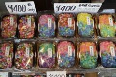 京都,日本- 2017年5月19日:糖果多色的品种在t的 免版税库存图片