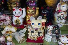 京都,日本- 2017年5月18日:Manekineko,幸运的猫作为souven 库存照片