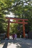 京都,日本- 2017年5月18日:Yasaka jinja shri的Torii门 免版税库存照片