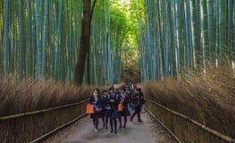 京都,日本- 2014年11月, 18日:日本学童 免版税库存照片