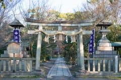 京都,日本- 2015年1月11日:京都Gyoen加尔德角宗象市寺庙  库存照片