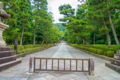 京都,日本- 2017年7月05日:公园的美丽的景色在Yasaka塔Gion Higashiyama区,京都 库存图片