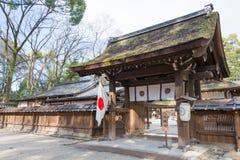 京都,日本- 2015年1月12日:在Shimogamo籍的河井jinja寺庙 图库摄影